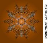snowflake icon. snowflake icon  ... | Shutterstock . vector #686981512
