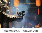 Chinese Dragon In The Temple...