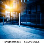 entrance of modern business...   Shutterstock . vector #686989066