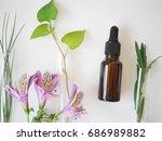 natural skincare bottle... | Shutterstock . vector #686989882
