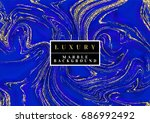 luxury blue marble background... | Shutterstock .eps vector #686992492