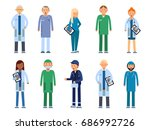 medical personal. male and... | Shutterstock .eps vector #686992726
