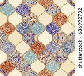 seamless ceramic tile with...   Shutterstock .eps vector #686992732