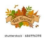 Fall Festival Vintage Badge...