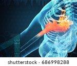 3d rendering human shoulder... | Shutterstock . vector #686998288