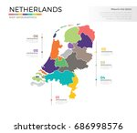 netherland country map... | Shutterstock .eps vector #686998576