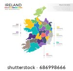 ireland country map infographic ... | Shutterstock .eps vector #686998666