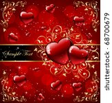 valentine's day card with... | Shutterstock .eps vector #68700679