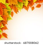 autumn vector background... | Shutterstock .eps vector #687008062