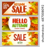 autumn sale and hello autumn... | Shutterstock .eps vector #687008092