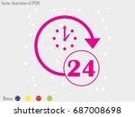 watch 24 hours of icon  vector...   Shutterstock .eps vector #687008698