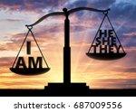 selfish and egoist concept.... | Shutterstock . vector #687009556