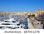 vittoriosa  malta   march 31 ... | Shutterstock . vector #687011278