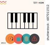 piano keyboard icon | Shutterstock .eps vector #687011512