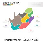 south africa country map...   Shutterstock .eps vector #687015982