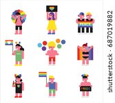 lgbt festival  people character ... | Shutterstock .eps vector #687019882