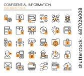 confidantial information   thin ... | Shutterstock .eps vector #687026008
