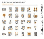 electronic measurement elements ... | Shutterstock .eps vector #687026032