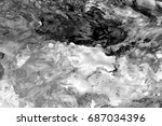 black and white  abstract... | Shutterstock . vector #687034396