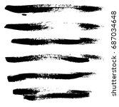 ink vector brush strokes set....   Shutterstock .eps vector #687034648