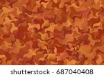 light pink  yellow vector... | Shutterstock .eps vector #687040408