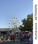 Small photo of SACRAMENTO, CALIFORNIA, USA - JUL 24, 2017: State Fair at Cal Expo . Rides and Stands