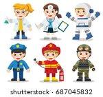kid set of different... | Shutterstock .eps vector #687045832