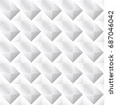 vector seamless pattern.... | Shutterstock .eps vector #687046042