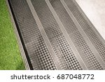 non slip stairs with dot... | Shutterstock . vector #687048772