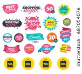 sale shopping banners. sale bag ... | Shutterstock .eps vector #687054076