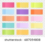 post note sticker set isolated... | Shutterstock .eps vector #687054808