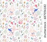 children's pattern in... | Shutterstock . vector #687056182
