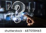 businesswoman on blurred...   Shutterstock . vector #687058465