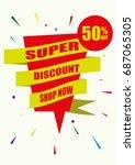 flat design vector marketing...   Shutterstock .eps vector #687065305