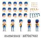 mechanic in overalls creation... | Shutterstock .eps vector #687067462