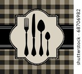 menu of food card | Shutterstock .eps vector #68706982