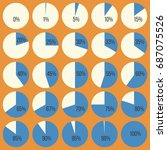 pie chart diagram in percentage ... | Shutterstock .eps vector #687075526