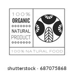 organic food. logo  badge and... | Shutterstock .eps vector #687075868