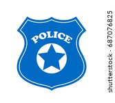 police vector sign illustration ... | Shutterstock .eps vector #687076825