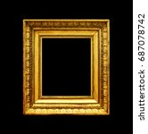 old gold photo frame isolated... | Shutterstock . vector #687078742