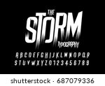vector of wild stylized font... | Shutterstock .eps vector #687079336