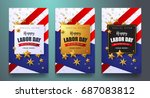 labor day sale promotion... | Shutterstock .eps vector #687083812