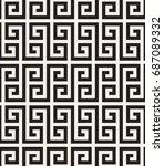 vector seamless pattern. modern ... | Shutterstock .eps vector #687089332
