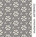 vector seamless pattern. modern ... | Shutterstock .eps vector #687089452