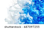 ink drop in water isolated on... | Shutterstock . vector #687097255