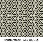 retro wallpaper   vintage... | Shutterstock .eps vector #687103015