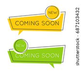 flat speech bubble shaped...   Shutterstock .eps vector #687103432