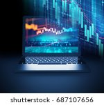 financial stock market graph on ... | Shutterstock . vector #687107656