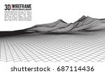 abstract vector landscape... | Shutterstock .eps vector #687114436