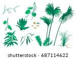 set of vector illustrations of... | Shutterstock .eps vector #687114622